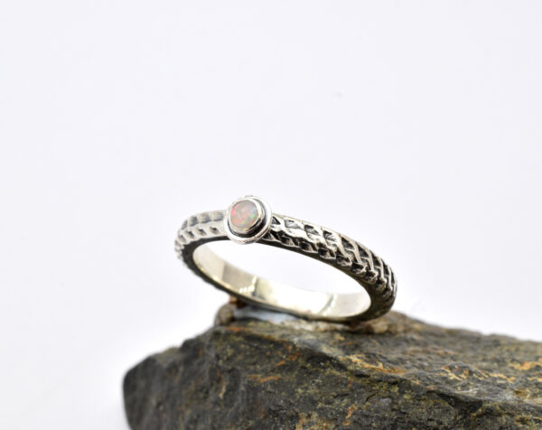 Stacking opal ring