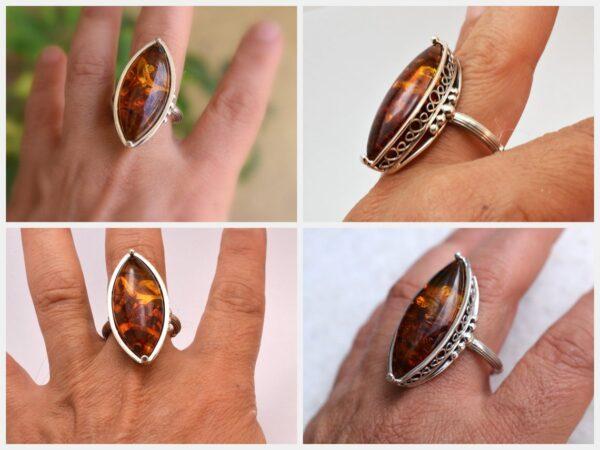 Large amber ring