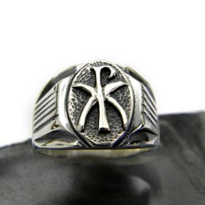 Ring Chi Rho symbol