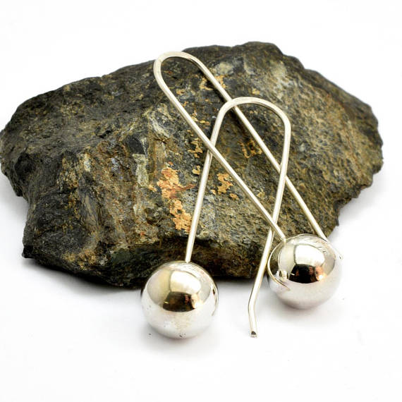 ball earrings sterling silver