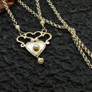 Heart silver necklace sterling silver