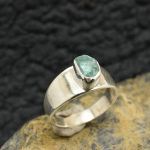 apatite sterling silver ring