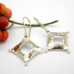 Geometric earrings sterling
