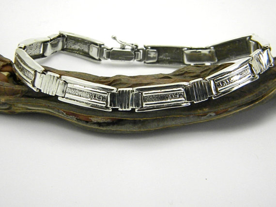 sterling silver bracelet for men large bangle gift