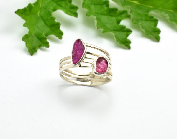 two stone ruby ring