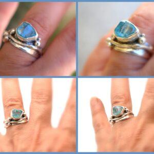 raw apatite ring