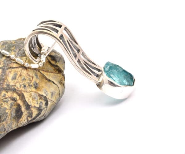 raw apatite necklace