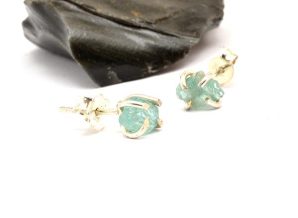 raw apatite earrings