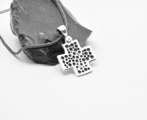 sterling silver square cross