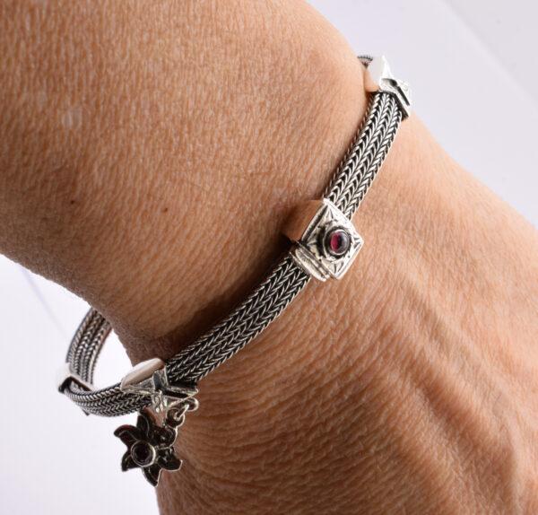 ethnic silver bracelet